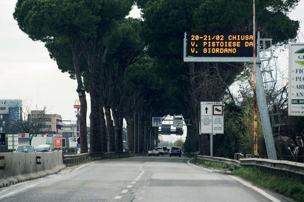 pannello a messaggio variabile autostradale Viale Leonardo da Vinci - Prato
