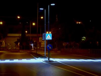 attraversamento pedonale luminoso Viale della Repubblica - Prato